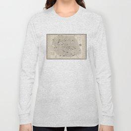 Vintage Map of Paris France (1841) Long Sleeve T-shirt