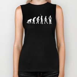 Evolution Accordeonist Musician Music Accordeon Player Design Biker Tank