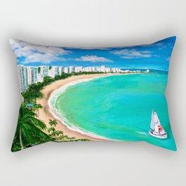 Isla Verde, San Juan, Carolina, Puerto Rico Rectangular Pillow