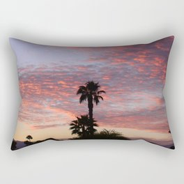 Scintillating Sunset Over Lush Desert Palm Trees Rectangular Pillow