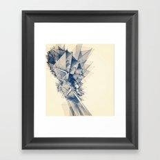 Polygon Tower Framed Art Print