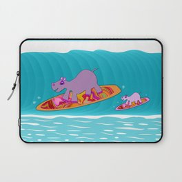 Just Like Momma - Hippos Surfing Laptop Sleeve