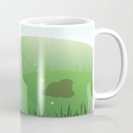 Dutch rabbit in field Coffee Mug