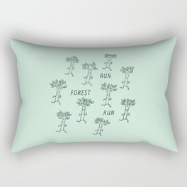 Run Forest Run Rectangular Pillow