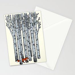 Fox in the Birches Stationery Cards
