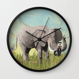 Monkeying Around the Trunk Wall Clock