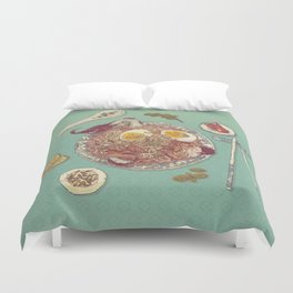 Phở Lady Duvet Cover