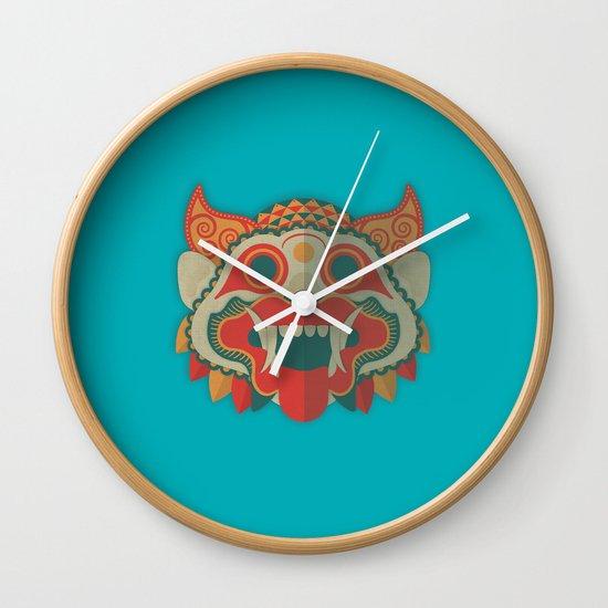 Paper Mask Wall Clock