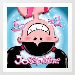 Josephine Oups! Art Print
