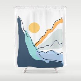 Minimalistic Landscape II Shower Curtain