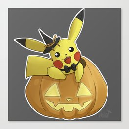 Halloweenachu Canvas Print
