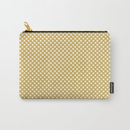Spicy Mustard and White Polka Dots Carry-All Pouch
