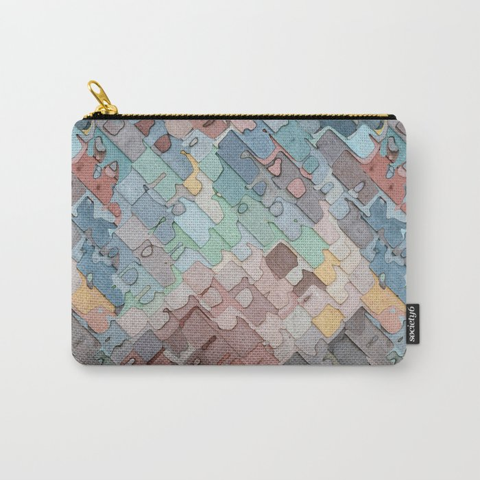 Colorful Layers Pattern Carry-All Pouch