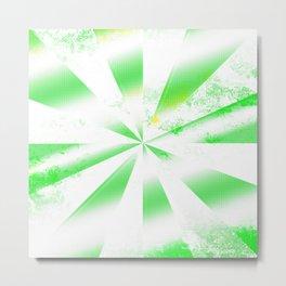 Green abstract spiral shapes Metal Print