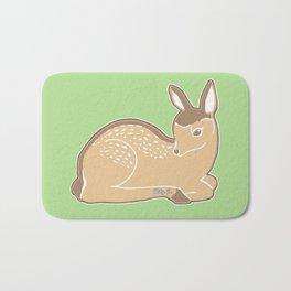 White-Tailed Deer Spring Green Bath Mat