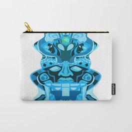gemini olmec alien pattern head ecopop Carry-All Pouch