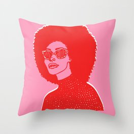 Kara Pink Throw Pillow