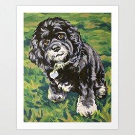 Bogey Pet Portrait Art Print
