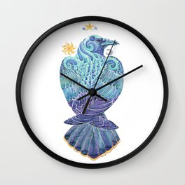 Raven Totem Wall Clock