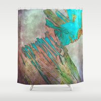 bond Shower Curtains featuring crystal bond by Stephen Leafriver