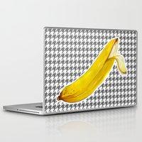 banana Laptop & iPad Skins featuring Banana by Ozghoul