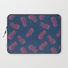 pattern-leaf-blue Laptop Sleeve