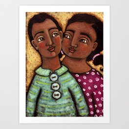 Sara and Raj Art Print