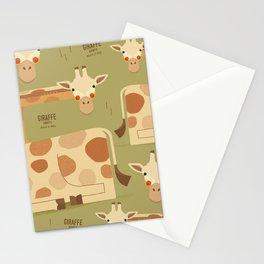 Giraffe, African Wildlife Stationery Cards