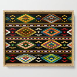 American Indian seamless pattern Serving Tray