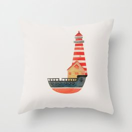To The Land of Imagination Throw Pillow