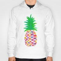 pineapple Hoodies featuring Pineapple by Lindsay Milgrim