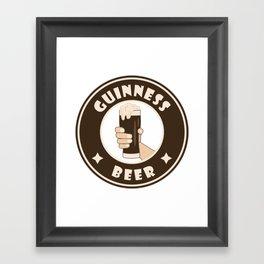 Guinness beer starbucks parody Framed Art Print