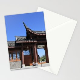 Courtyard at Chinese Garden #1 Stationery Cards