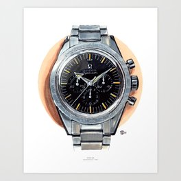 Omega Speedmaster 1957, Broad Arrow Painting Art Print