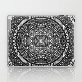 Zentangle Mandala Black and White Laptop & iPad Skin