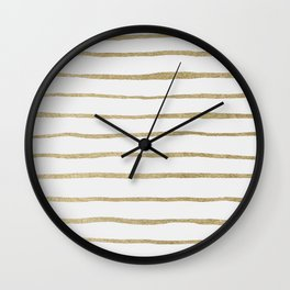 Gold Stripes Wall Clock