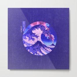 Great Wave Off Kanagawa Purple Metal Print