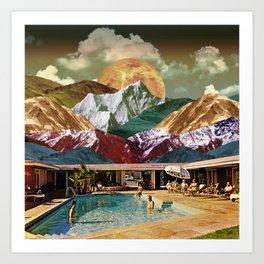 Pool day Art Print