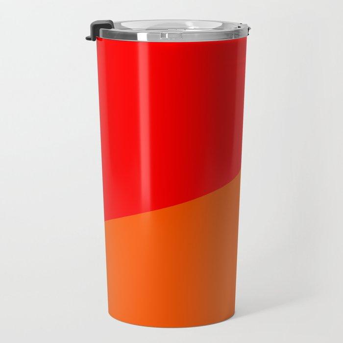 red orange pink Travel Mug