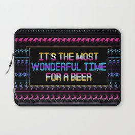 Christmas - It's The Most Wonderful Time for a Beer Laptop Sleeve