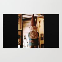 gnome Area & Throw Rugs featuring A Gnome  by Regina Mountjoy