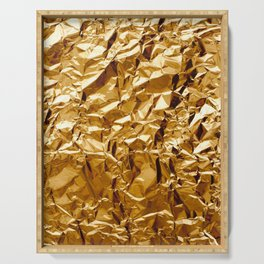 Crumpled Golden Foil Serving Tray