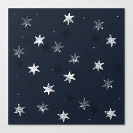 Stamped Star Pattern Canvas Print