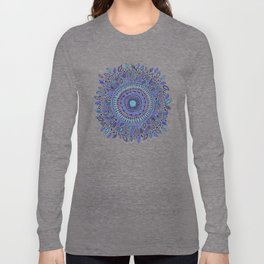 Indigo Flowered Mandala Long Sleeve T-shirt
