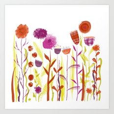 Mixed up Meadow Art Print