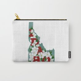 State Florals - Idaho Floral Watercolor - Red Carry-All Pouch