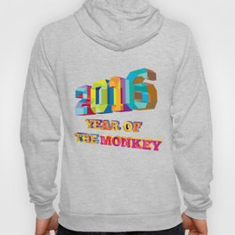 2016 Year of the Monkey Low Polygon Hoody