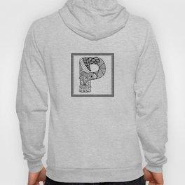 Zentangle P Monogram Alphabet Initials Hoody