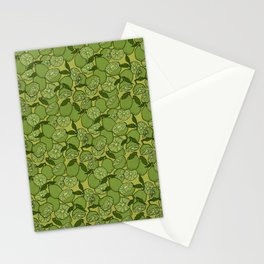 Lime Greenery Stationery Cards