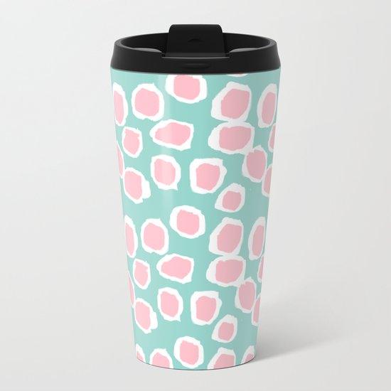 Hayden - abstract trendy gender neutral colorful bright happy dorm college decor pattern print art Metal Travel Mug